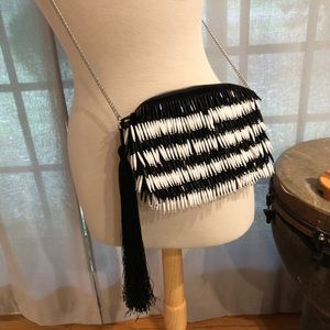 Sam Edelman Fringe Beaded Purse NWT